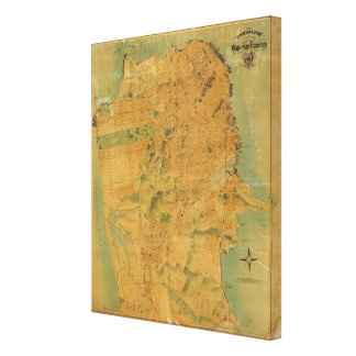 The Chevalier  Map of San Francisco Canvas Print