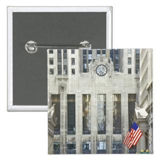 'The Chicago Board of Trade, Chicago, Illinois' 15 Cm Square Badge
