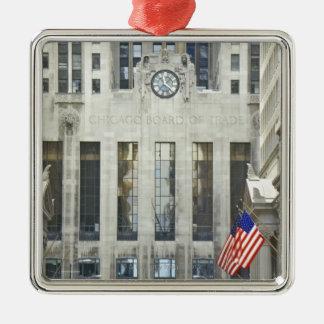 'The Chicago Board of Trade, Chicago, Illinois' Silver-Colored Square Decoration