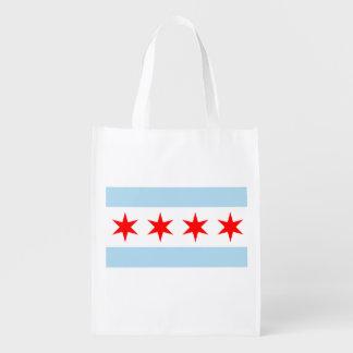The Chicago Flag Reusable Grocery Bag