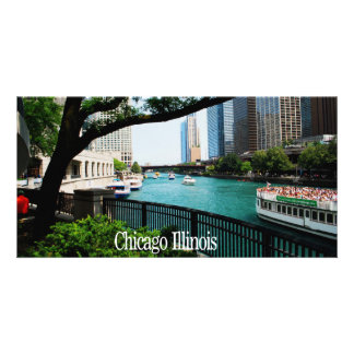 The Chicago River Front Photo Card Template