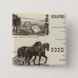 The Chicago Scraper and Ditcher 15 Cm Square Badge