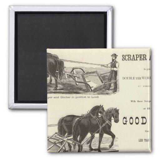The Chicago Scraper and Ditcher Fridge Magnet