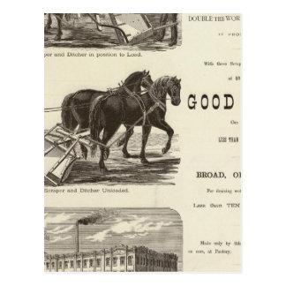 The Chicago Scraper and Ditcher Postcard