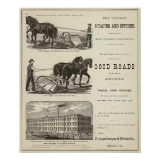 The Chicago Scraper and Ditcher Poster