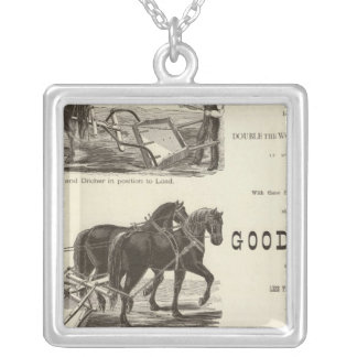 The Chicago Scraper and Ditcher Silver Plated Necklace