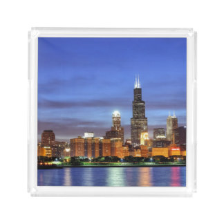 The Chicago skyline from the Adler Planetarium Acrylic Tray