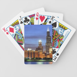 The Chicago skyline from the Adler Planetarium Bicycle Playing Cards
