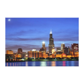 The Chicago skyline from the Adler Planetarium Canvas Print