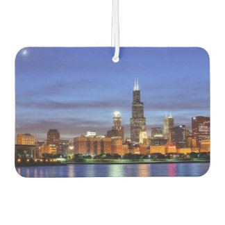 The Chicago skyline from the Adler Planetarium Car Air Freshener