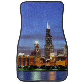 The Chicago skyline from the Adler Planetarium Car Mat