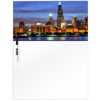 The Chicago skyline from the Adler Planetarium Dry Erase Board
