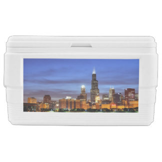 The Chicago skyline from the Adler Planetarium Ice Chest