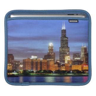 The Chicago skyline from the Adler Planetarium iPad Sleeve