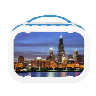 The Chicago skyline from the Adler Planetarium Lunch Box