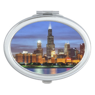 The Chicago skyline from the Adler Planetarium Mirror For Makeup