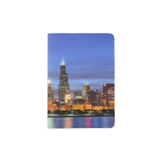 The Chicago skyline from the Adler Planetarium Passport Holder