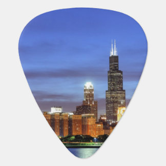 The Chicago skyline from the Adler Planetarium Plectrum