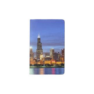 The Chicago skyline from the Adler Planetarium Pocket Moleskine Notebook