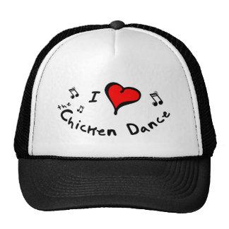 the Chicken Dance I Heart-Love Gift Hats