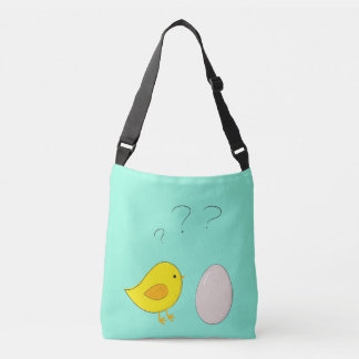 The chicken or the egg cute cartoon for Easter Crossbody Bag