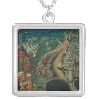 The Chief Advisor to Mohammed II Square Pendant Necklace