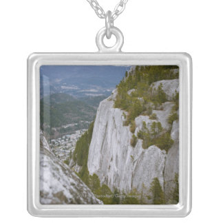 """The """"Chief"""" Arial View in Squamish Square Pendant Necklace"""