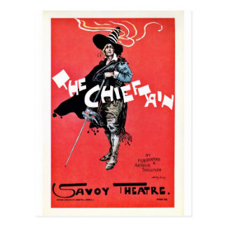 The Chieftain Vintage Savoy theatre Postcard