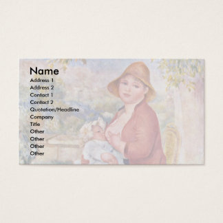The Child At The Breast (Maternity), Business Card