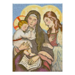 The Child Jesus with His Mother and Grandmother Poster
