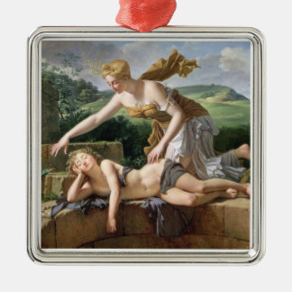 The Child of Fortune, 1801 (oil on canvas) Silver-Colored Square Decoration