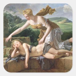The Child of Fortune, 1801 (oil on canvas) Square Sticker
