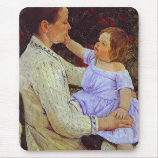 The Child s Caress c 1890 Mary Cassatt Mouse Mat