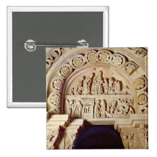 The Childhood of Christ, Tympanum of Right Portal, 15 Cm Square Badge