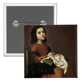 The Childhood of the Virgin, c.1660 15 Cm Square Badge