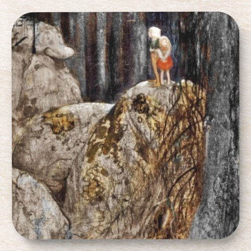 The Children with Stone Troll Drink Coasters