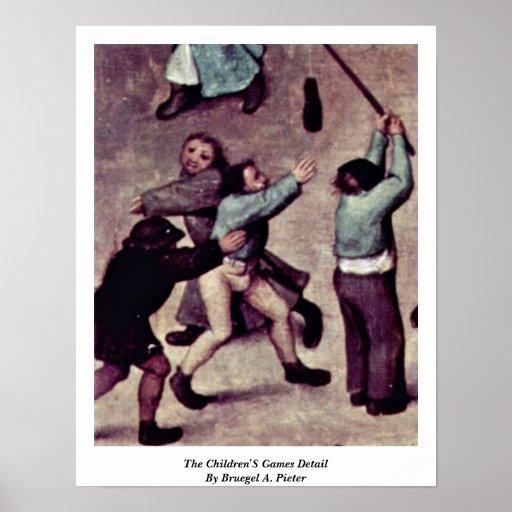 The Children'S Games Detail By Bruegel A. Pieter Posters
