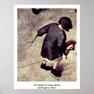 The Children'S Games Detail By Bruegel A. Pieter Poster