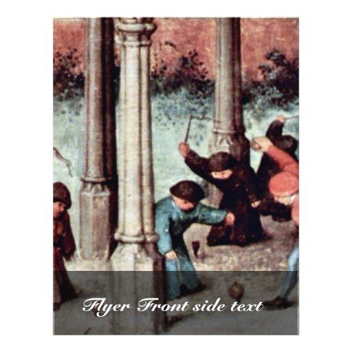 The Children'S Games Detail By Bruegel D. Ä. Piete 21.5 Cm X 28 Cm Flyer