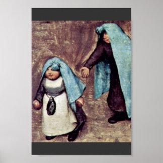 The Children'S Games Detail By Bruegel D. Ä. Piete Poster