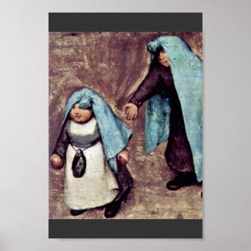 The Children'S Games Detail By Bruegel D. Ä. Piete Print
