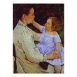 The Child's Caress. c. 1890, Mary Cassatt Poster