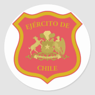 the Chilean Army, Chile Classic Round Sticker