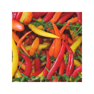 The chilli stall canvas print
