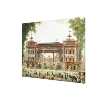 The Chinese Baths in Paris, established by Lenoir Canvas Print