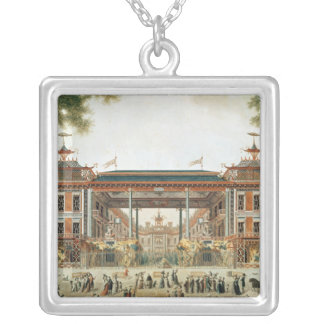 The Chinese Baths in Paris, established by Lenoir Silver Plated Necklace