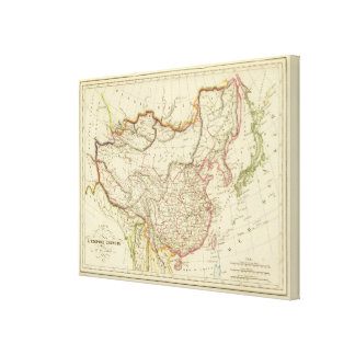 The Chinese Empire and Japan Canvas Print