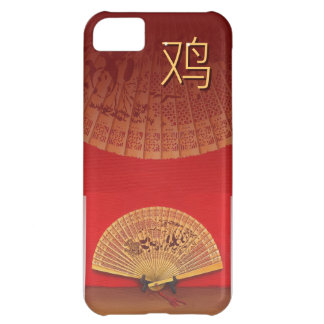 The Chinese fan - Zodiac sign rooster 鸡 Case For iPhone 5C