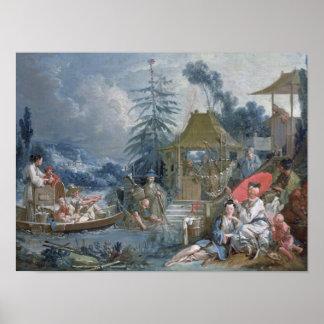 The Chinese Fishermen, c.1742 Poster