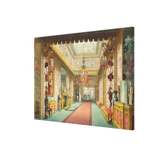 The Chinese Gallery, from 'Views of the Royal Pavi Canvas Print